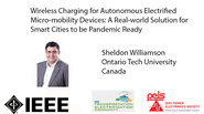 Wireless Charging for Autonomous Electrified Micro-mobility Devices-A Real-world Solution for Smart Cities to be Pandemic Ready-video