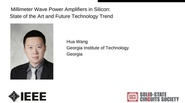 Millimeter Wave Power Amplifiers in Silicon: State of the Art and Future Technology Trend-Video