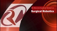 IEEE RAS North American Summer School on Surgical Robotics