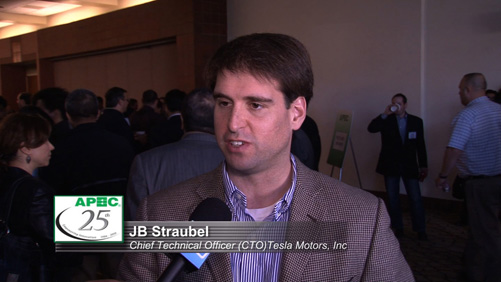APEC Speaker Highlights: JB Straubel, CTO, Tesla Motors, Inc.