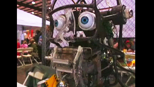 Maker Faire 2008: Voxhead, the Babbling Robot