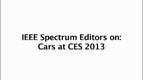 Trends in In-Vehicle Technology: CES 2013