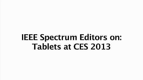 Trends in Tablets: CES 2013