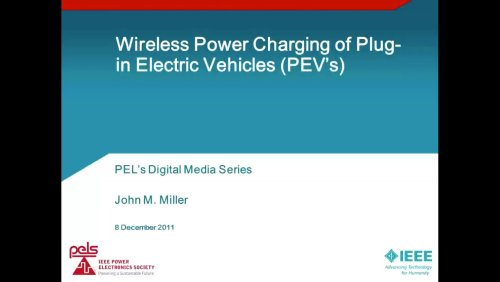 Wireless Power Charging of Plug-In Electric Vehicles