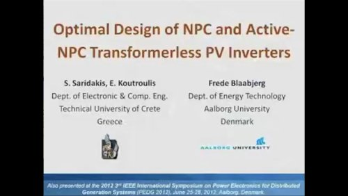 Optimal Design of NPC and Active-NPC Transformerless PV Inverters