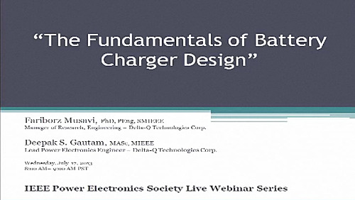 The Fundamentals of Battery Charger Design