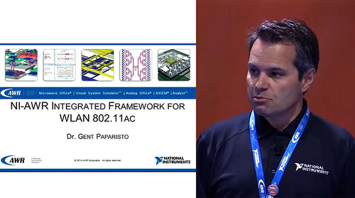 MicroApps: NI-AWR Integrated Framework for WLAN 802.11ac (AWR)