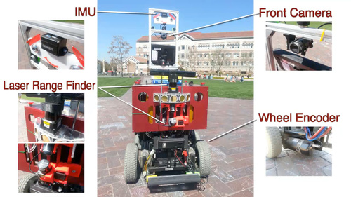 Beobot 2.0: Autonomous Mobile Robot Localization and Navigation in Outdoor Pedestrian Environment