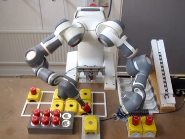 Robotic Assembly of Emergency Stop Buttons