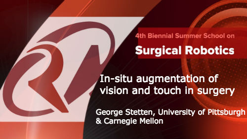Surgical Robotics: In-situ augmentation of vision and touch in surgery