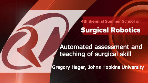 Surgical Robotics: Automated assessment and teaching of surgical skill