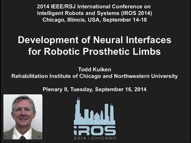 IROS 2014 Plenary: Todd Kuiken