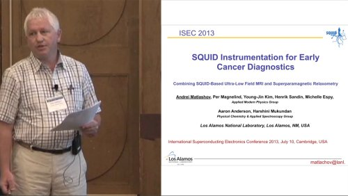 ISEC 2013 Special Gordon Donaldson Session: Remembering Gordon Donaldson - 5 of 7 - SQUID Instrumentation for Early Cancer Diagnostics