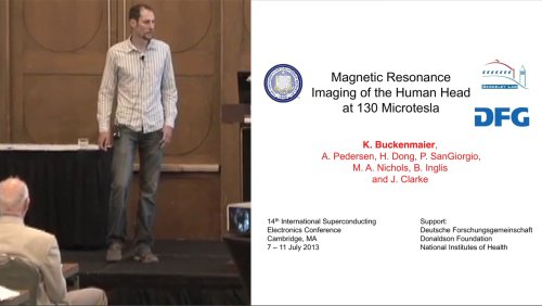 ISEC 2013 Special Gordon Donaldson Session: Remembering Gordon Donaldson - 4 of 7 - MRI at 130 Microtesla