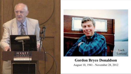 ISEC 2013 Special Gordon Donaldson Session: Remembering Gordon Donaldson - 1 of 7 - Gordon Donaldson: A Memory - part I - John Clarke