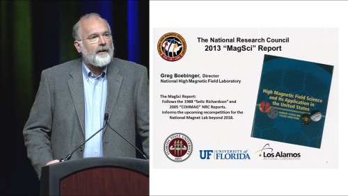 High Magnetic Field Science and its Application in the US - ASC-2014 Plenary series - 10 of 13 - Friday 2014/8/15