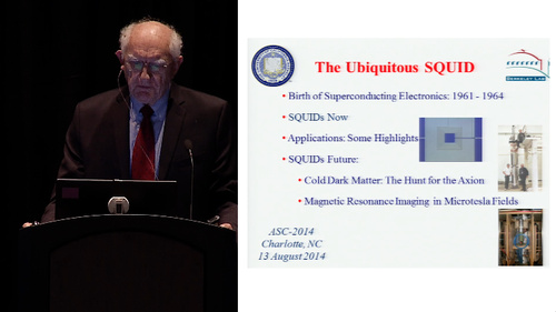 ASC-2014 SQUIDs 50th Anniversary: 2 of 6 - John Clarke - The Ubiquitous SQUID