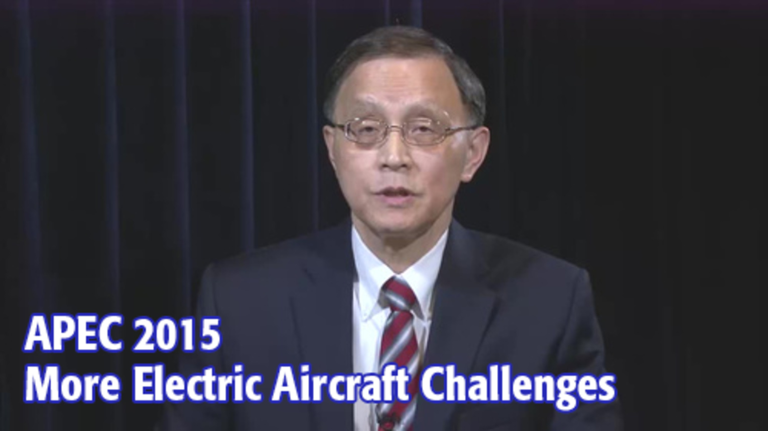 APEC 2015: KeyTalks - More Electric Aircraft Challenges