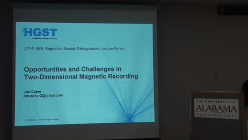 IEEE Magnetics 2014 Distinguished Lectures - JONATHAN COKER