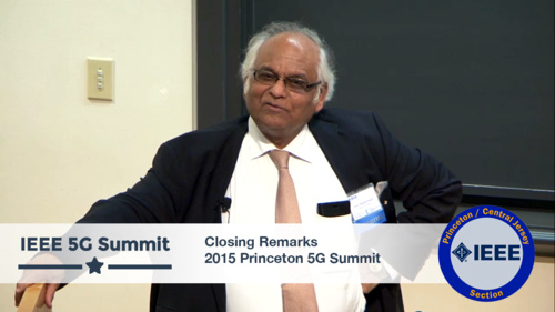Princeton 5G Summit - Ramjee Prasad - Closing Time