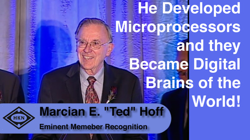 "HKN Member Marcian E. ""Ted"" Hoff Receives Award at the 2012 EAB Award Ceremony"