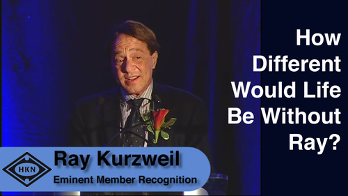 HKN Member Ray Kurzweil Receives Award at 2014 EAB Awards Ceremony