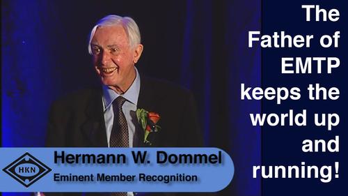HKN Member Hermann W. Dommel Receives an Award at the 2014 EAB Award Ceremony