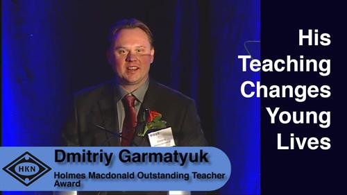 HKN Member Dmitriy Garmatyuk Receives Award at the 2014 EAB Award Ceremony