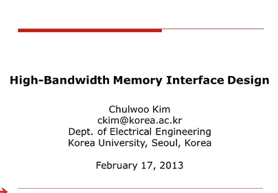 High-Bandwidth Memory Interface Design