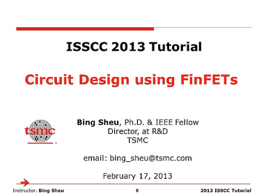 CIRCUIT DESIGN USING FINFETS
