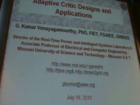 Applications of Adaptive Critic Design 1