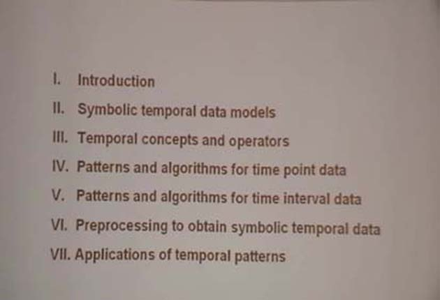Temporal Pattern Mining in Symbolic Time Point and Time Interval Data