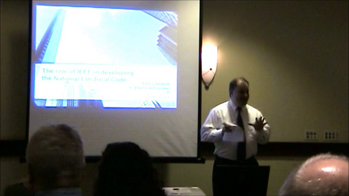 "IEEE Hampton Roads Presentation ""IEEE's Role in Developing the National Electrical Code"""