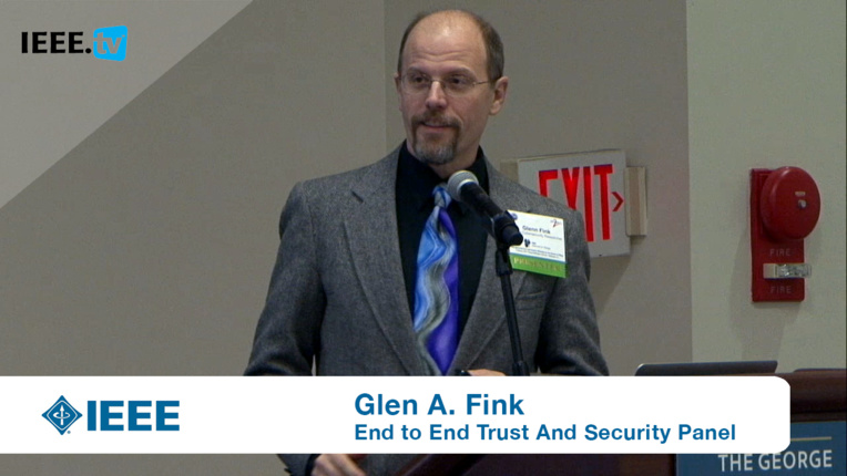 Glenn Fink on Priorities for IoT Security and Privacy From Here to 2020: End to End Trust and Security Workshop for the Internet of Things 2016