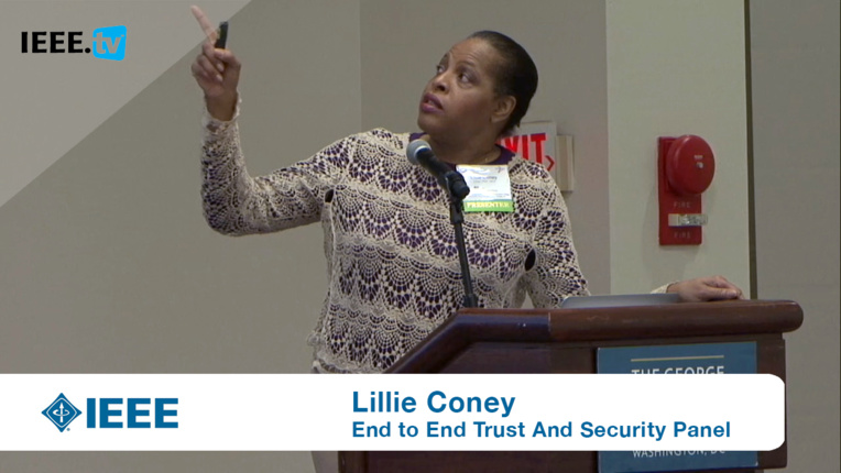 Lillie Coney on the IoT and the Ability to Defend Against the Silent Intruder: 2016 End to End Trust and Security Workshop for the Internet of Things