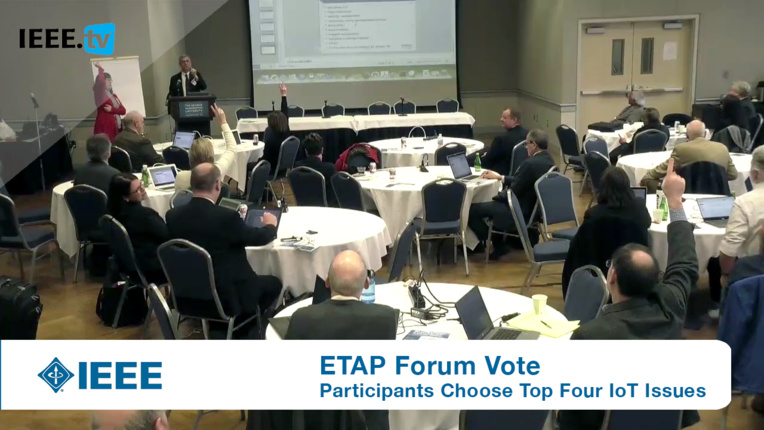 Clinton Andrews leads the ETAP Forum Vote on the Top Four IoT Issues