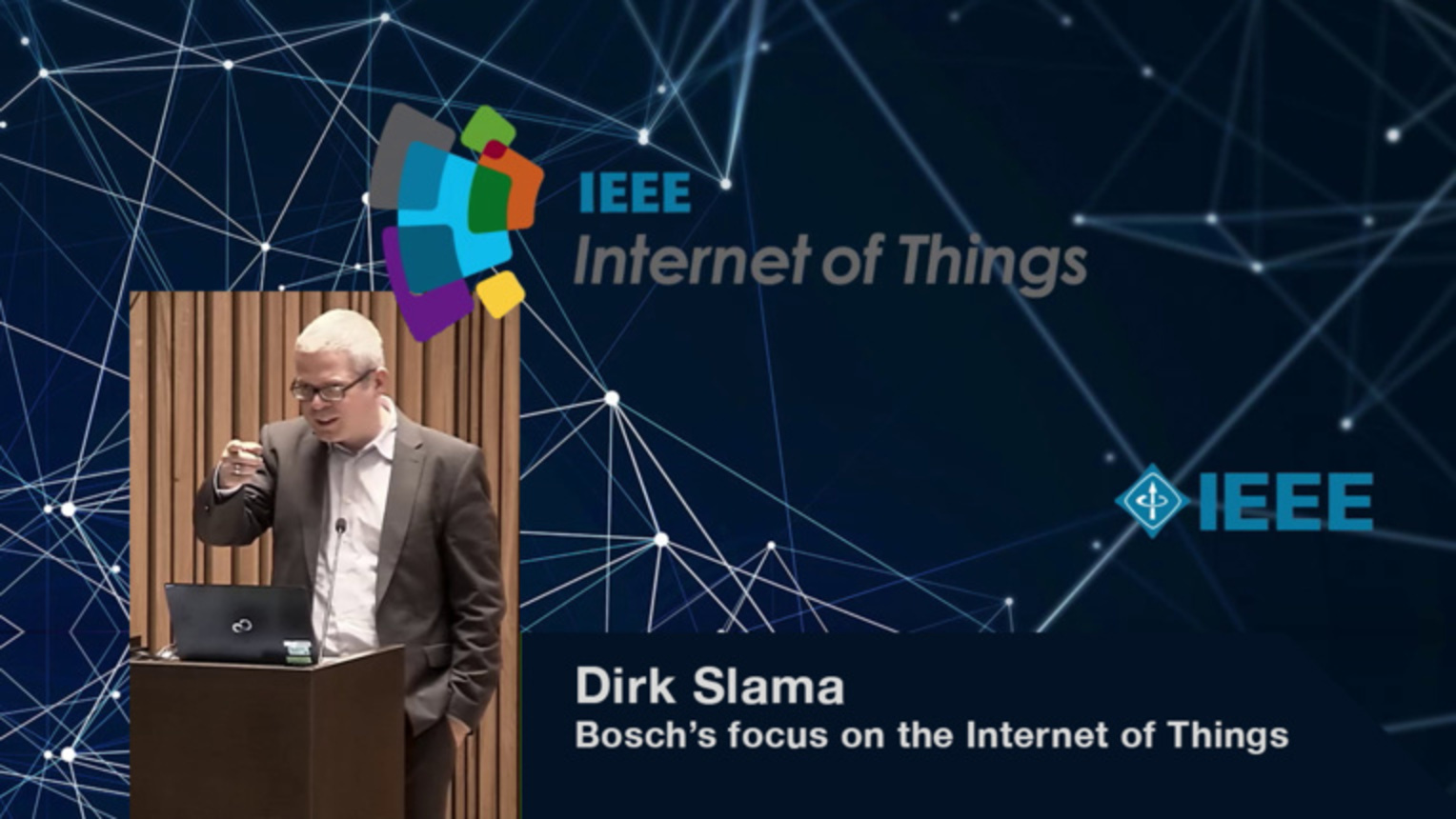 Dirk Slama on Bosch's focus on Internet of Things - WF-IoT 2015