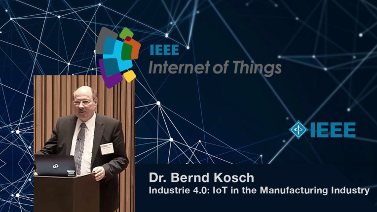 Dr. Bernd Kosch on Industrie 4.0 and manufacturing - WF-IoT 2015