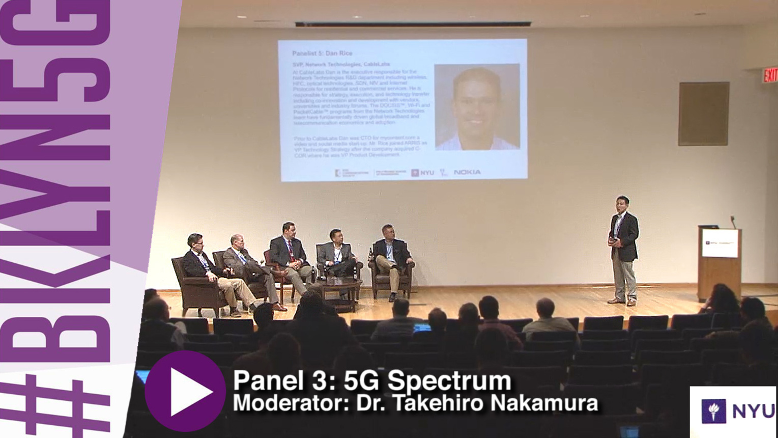 Panel 3: Mobile Broadband in mmW bands - FCC Perspective - Brooklyn 5G - 2015