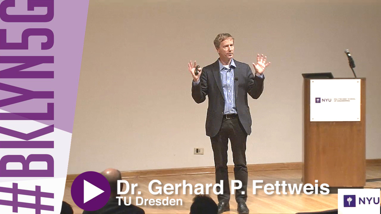Brooklyn 5G - 2015 - Gerhard P. Fettweis - The Tactile Internet and its Millisecond