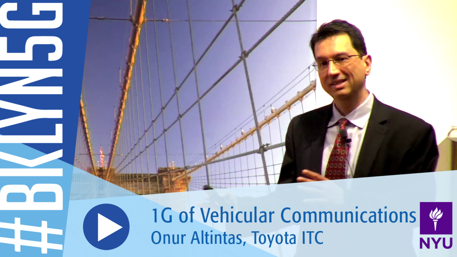 Brooklyn 5G 2016: Onur Altintas on 1G of Vehicular Communications