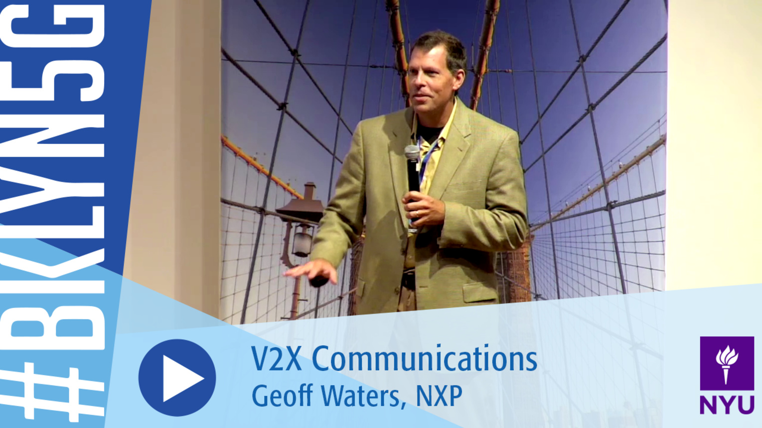 Brooklyn 5G 2016: Geoff Waters on V2X Communications