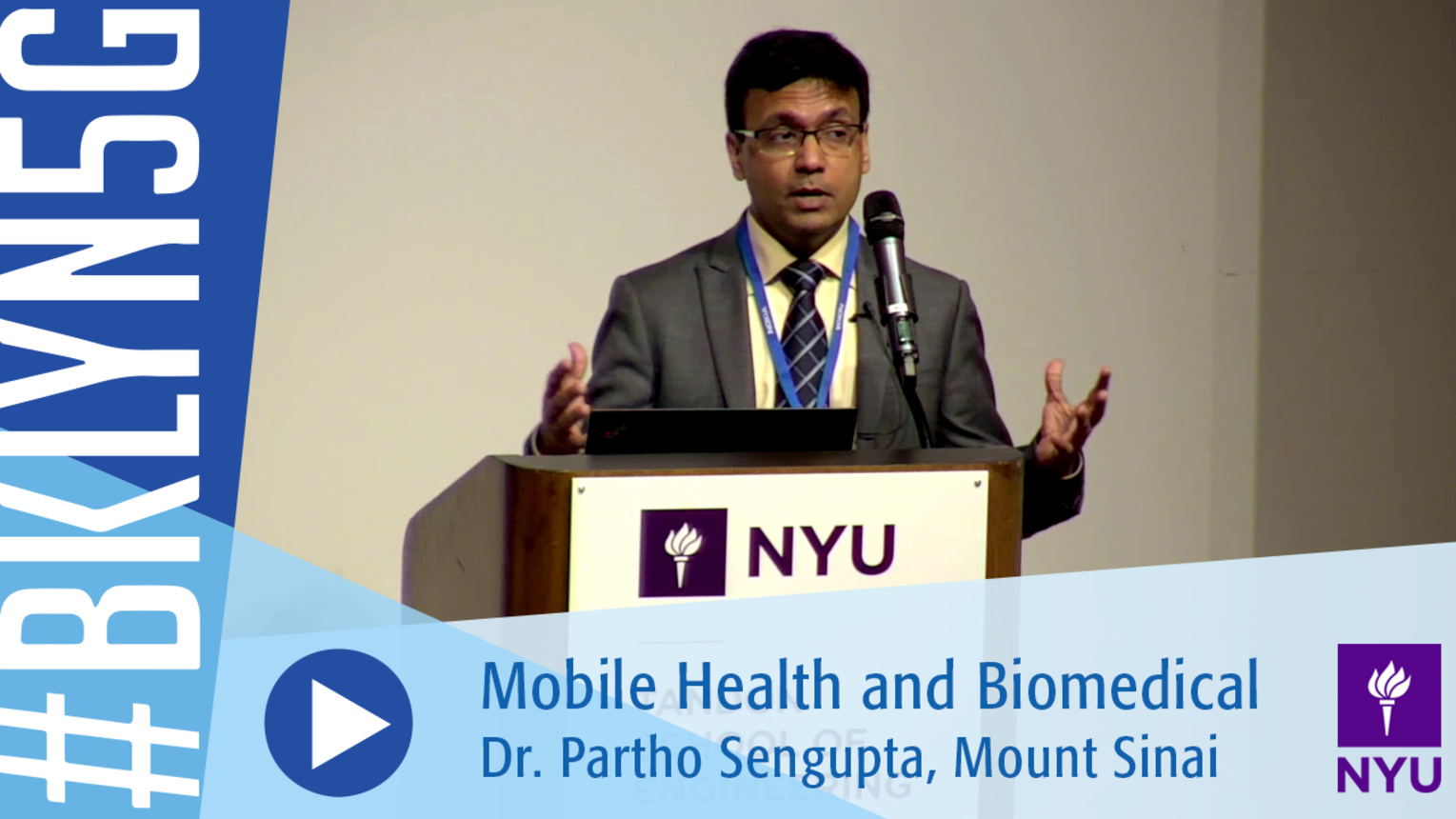 Brooklyn 5G 2016: Dr. Partho Sengupta on Mobile Health Biomedical Imaging