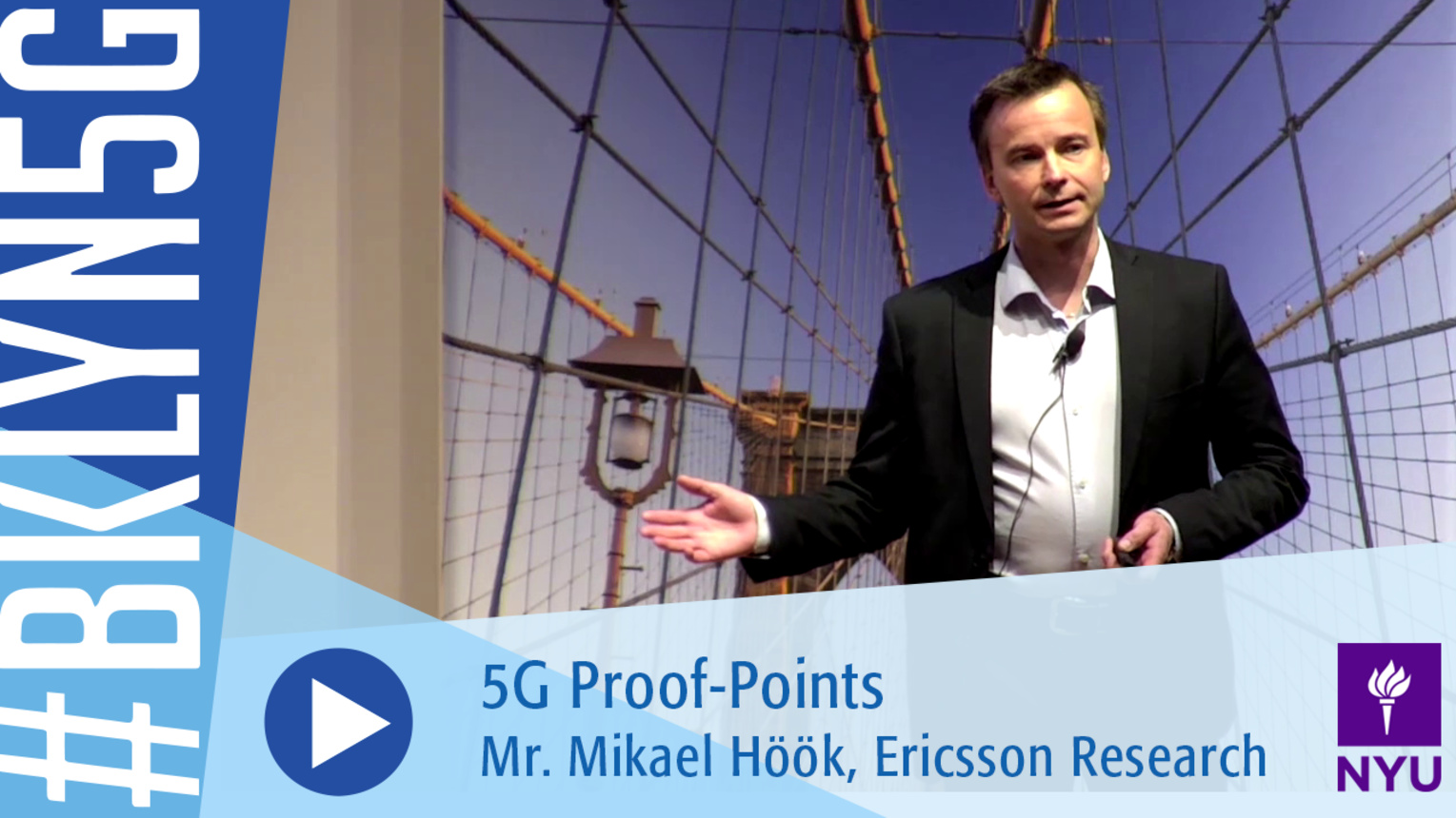 Brooklyn 5G 2016: Mikael Hook on 5G Proof-Points