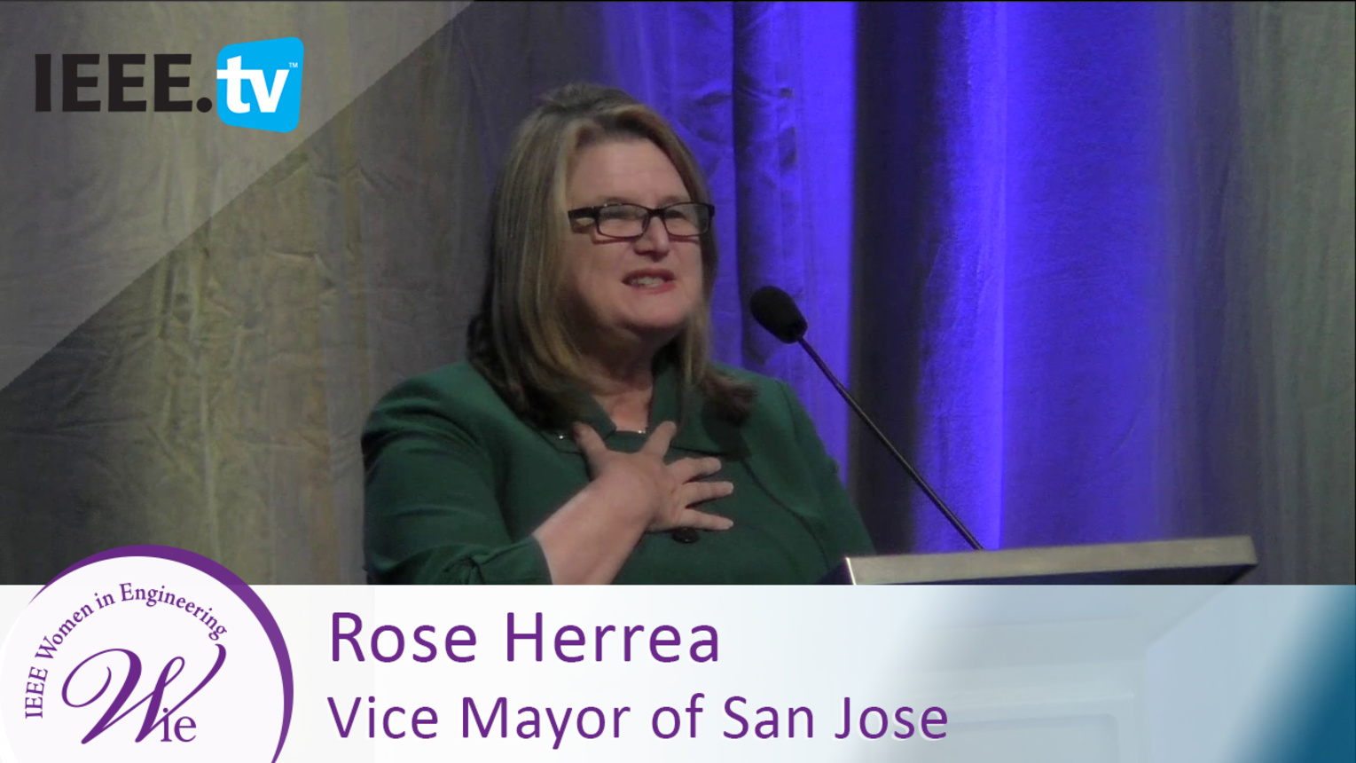 Vice Mayor of San Jose Rose Herrera supports WIE ILC - 2016 Women in Engineering Conference