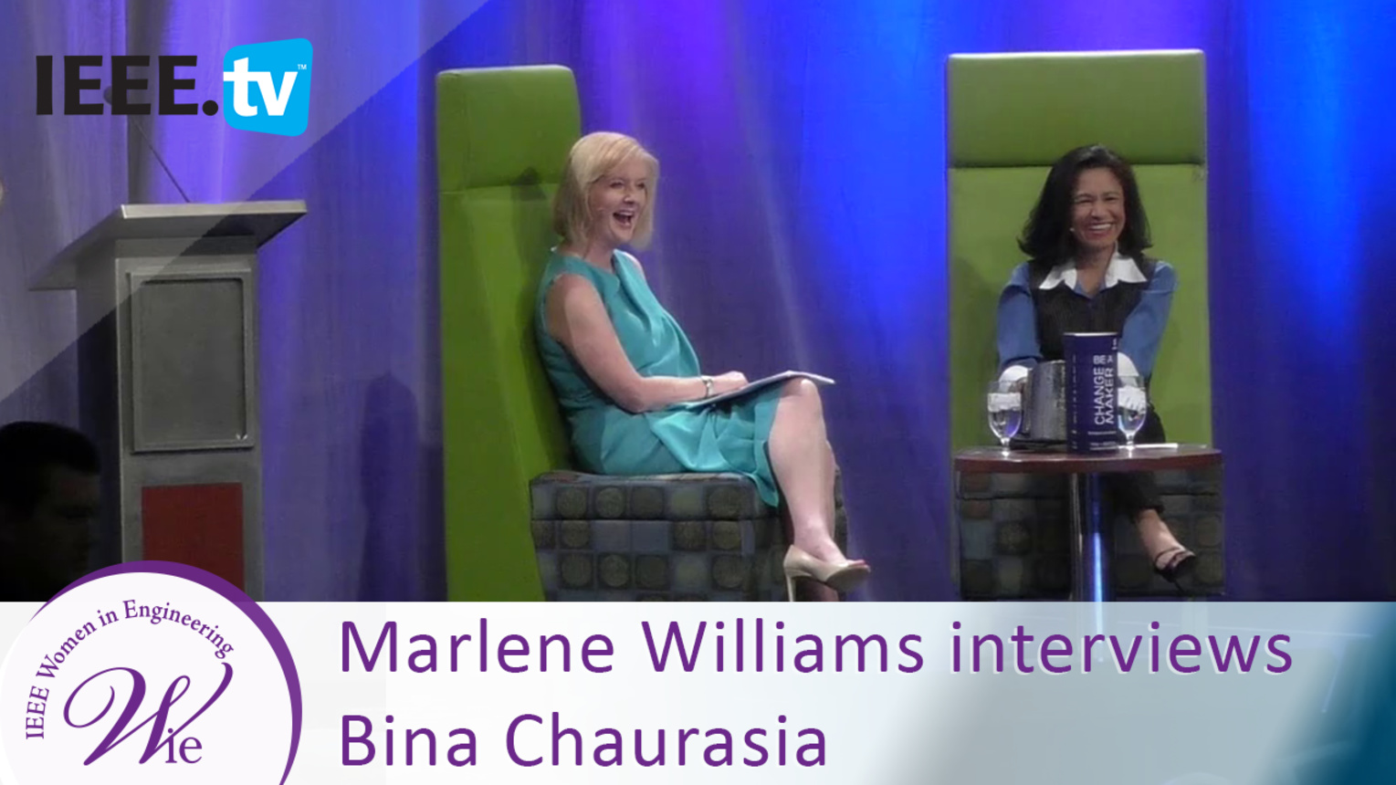 Watermark CEO Marlene Williamson Interviews Ericsson's Bina Chaurasia - 2016 Women in Engineering Conference