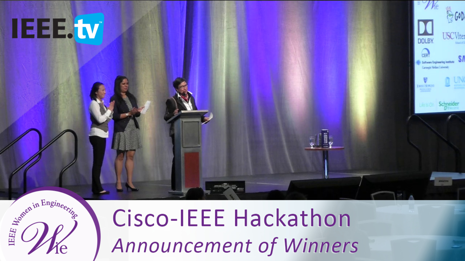 Cisco-IEEE Hackathon Winners - 2016 Women in Engineering Conference
