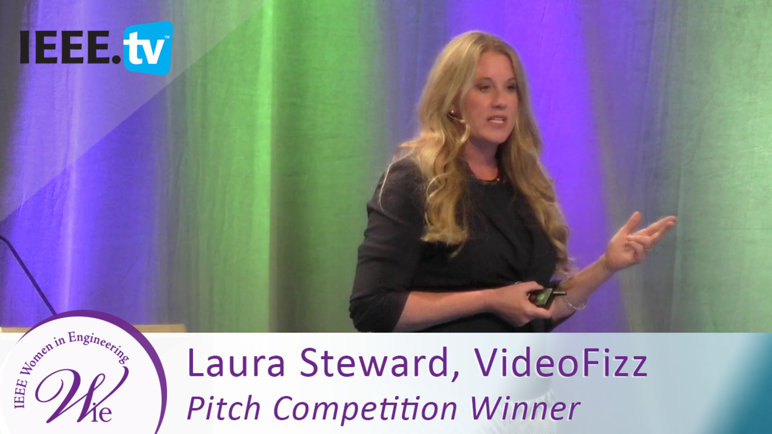 Pitch Competition Winner Laura Steward of Video Fizz - 2016 Women in Engineering Conference