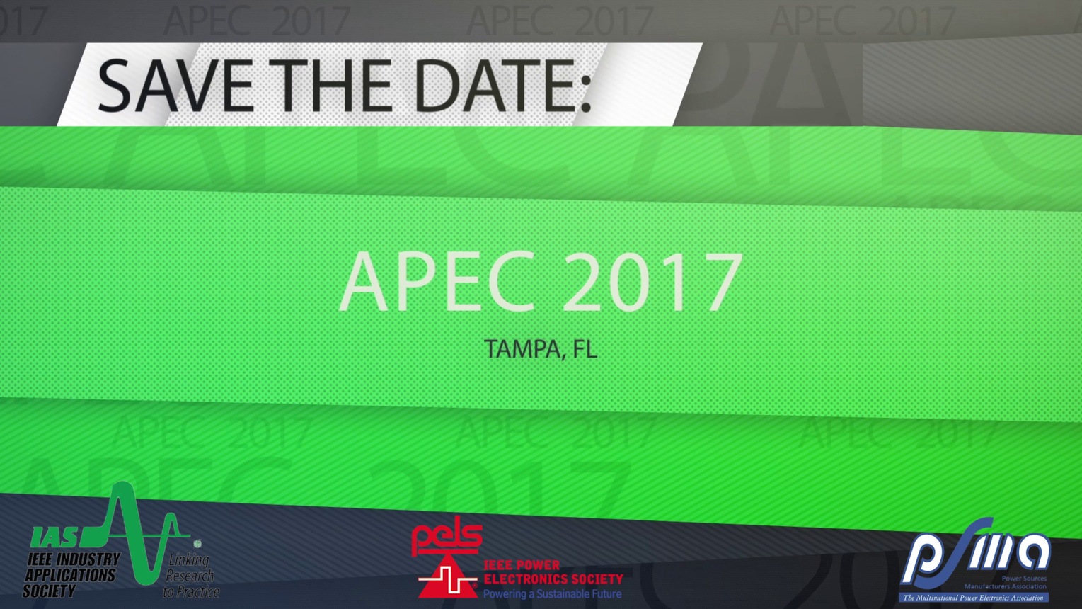 APEC 2017 in Tampa, Florida: Save the Date