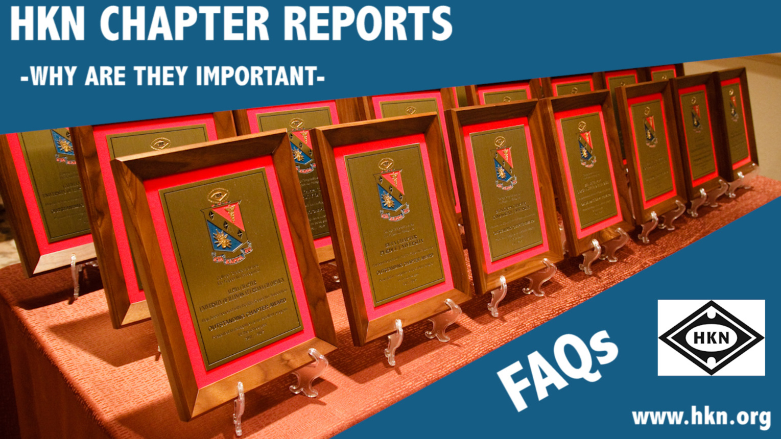 FAQs and Information: Chapter Reports